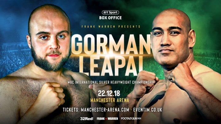 Nathan Gorman vs. Alex Leapai Set For Warrington-Frampton