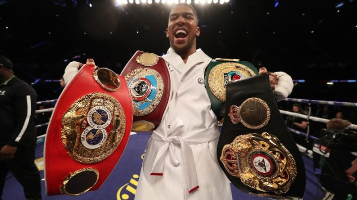Anthony Joshua recognizes Tyson Fury is lineal champ, willing to fight